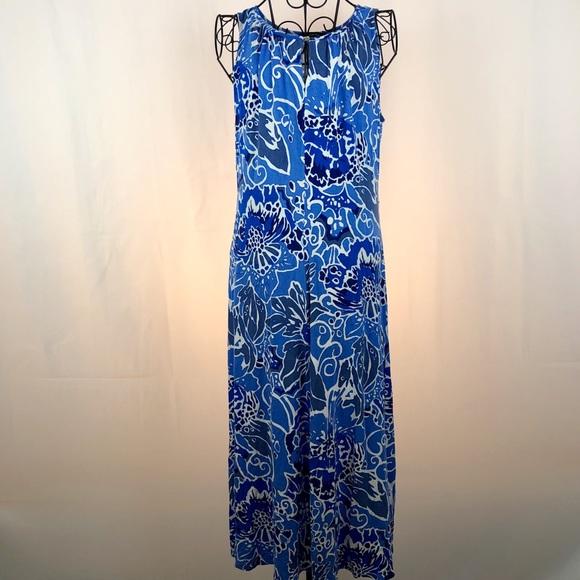 Lands' End Dresses & Skirts - LANDS'END floral knit sleeveless dress S